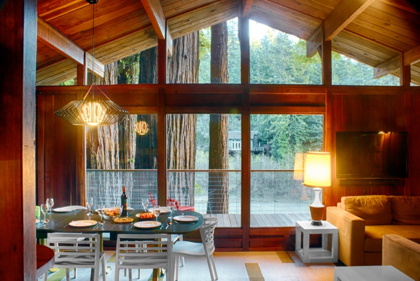 Dining and Living Overlooking the River